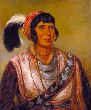 Famous paintings of Portraits: Seminole Chief Osceola