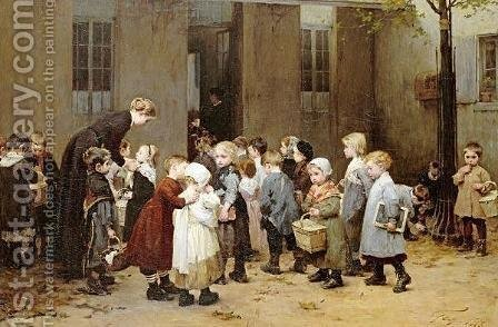 Back To School by Henri-Jules-Jean Geoffroy (Geo) - Reproduction Oil Painting
