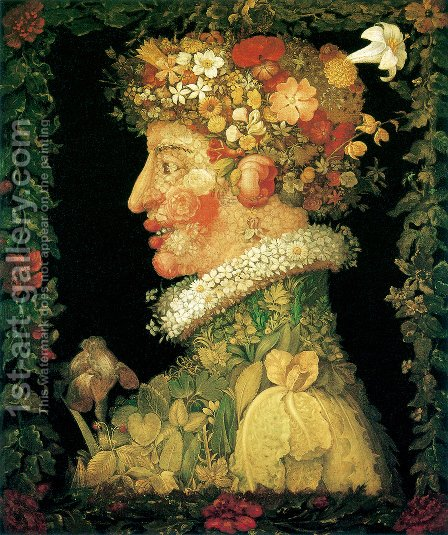 The Spring 4 by Giuseppe Arcimboldo - Reproduction Oil Painting