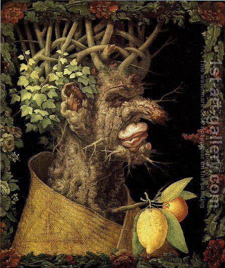 The Winter 4 by Giuseppe Arcimboldo - Reproduction Oil Painting