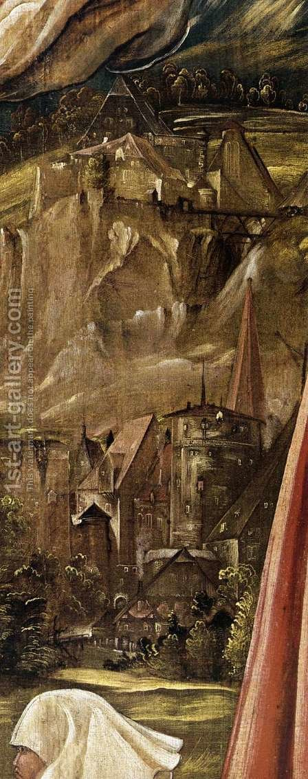 Christ on the Cross between Mary and St John (detail 2) by Albrecht Altdorfer - Reproduction Oil Painting