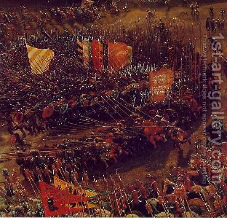 The Battle of Alexander at Issus (detail 3) by Albrecht Altdorfer - Reproduction Oil Painting