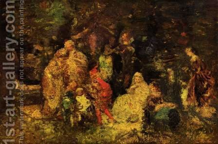 As you like it by Adolphe Joseph Thomas Monticelli - Reproduction Oil Painting