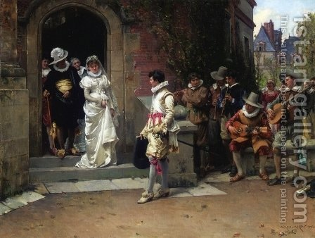 After the Wedding by Adrien Moreau - Reproduction Oil Painting