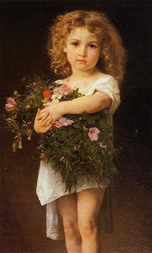 Famous paintings of Portraits: Child With Flowers
