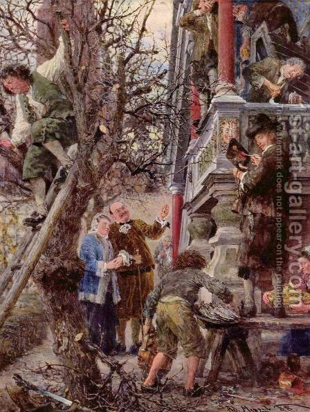 Beati Possidentes (Blessed are those who have) by Adolph von Menzel - Reproduction Oil Painting