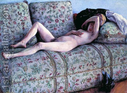Gustave Caillebotte: Nude woman - reproduction oil painting