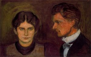 Famous paintings of Couples: Portrait of Aase and Harald Norregaard