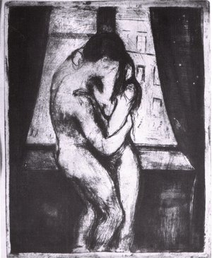 Reproduction oil paintings - Edvard Munch - The Kiss 3