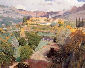 Reproduction oil paintings - Santiago Rusinol i Prats - El valle de los naranjos. Biniaraix ( Mallorca )