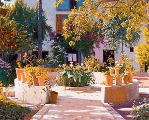 Reproduction oil paintings - Santiago Rusinol i Prats - Jardín 2