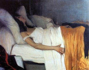 Reproduction oil paintings - Santiago Rusinol i Prats - La morfina