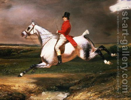 The Hunter by Alfred Dedreux - Reproduction Oil Painting