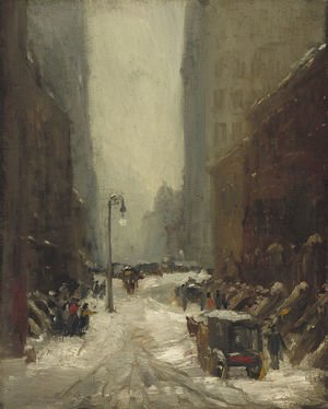 Reproduction oil paintings - Robert Henri - Snow in New York