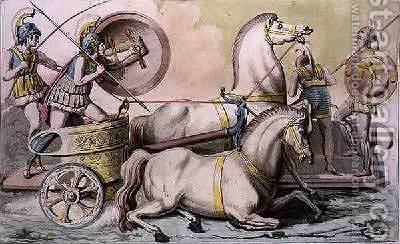 Roman Charioteers from Costumi dei Romani by (after) Monticelli, Angelo - Reproduction Oil Painting