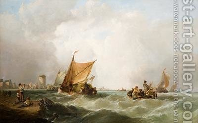 Coast of Holland by Alfred Montague - Reproduction Oil Painting