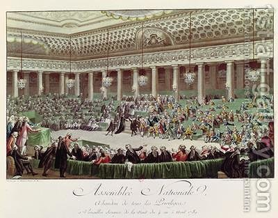 The National Assembly Renounces all Privileges by (after) Monnet, Charles - Reproduction Oil Painting