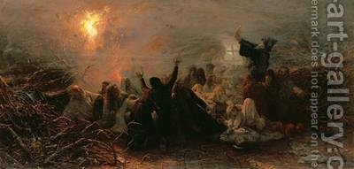 SelfImmolation 1884 by Grigori Grigorievich Mjasoedov - Reproduction Oil Painting