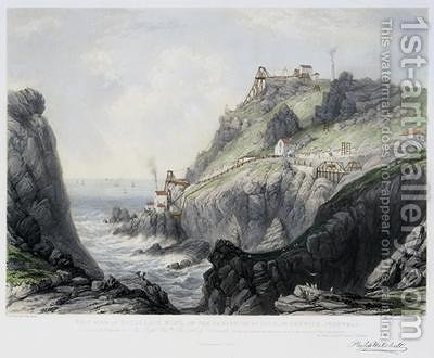 The View of Botallack Mine in the Parish of St Just in Penwith by (after) Mitchell, Philip - Reproduction Oil Painting