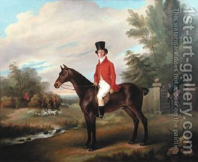 Preparing for the Hunt by J.A. Mitchell - Reproduction Oil Painting
