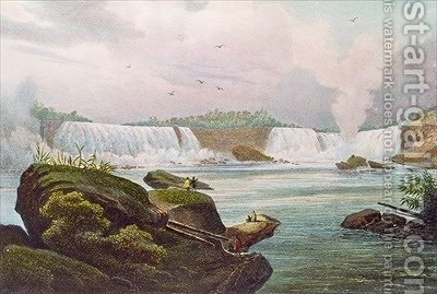 General View of Niagara Falls from the Canadian Side by (after) Milbert, Jacques - Reproduction Oil Painting
