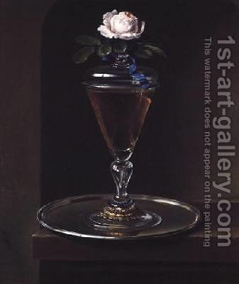 Glass of Wine by Heroman Van Der Mijn - Reproduction Oil Painting