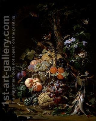 Still life of fruit by Abraham Mignon - Reproduction Oil Painting