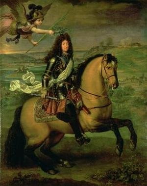 Equestrian Portrait of Louis XIV 1638-1715 Crowned by Victory 1692