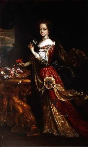 Portrait of a lady possibly Henrietta Anne Duchess of Orleans 1644-70 daughter of Charles I