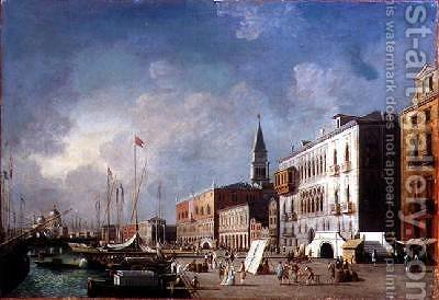 View of the Doges Palace and the Bacino di San Marco by Giovanni Migliara - Reproduction Oil Painting