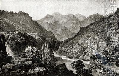 View in the Cordillera by (after) Miers, John - Reproduction Oil Painting