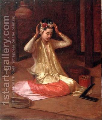 James Raeburn Middleton: A Burmese Dancer 1920 - reproduction oil painting