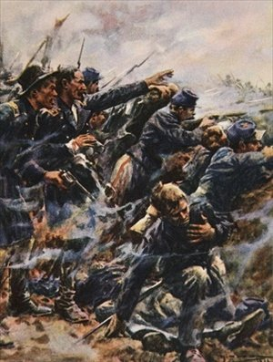 High Tide at Gettysburg illustration from This Country of Ours The Story of the United States