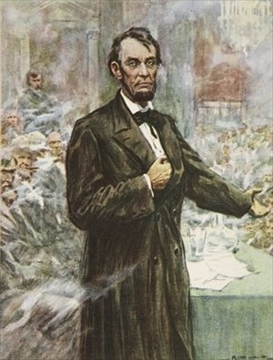 Abraham Lincoln the great Emancipator illustration from This Country of Ours The Story of the United States