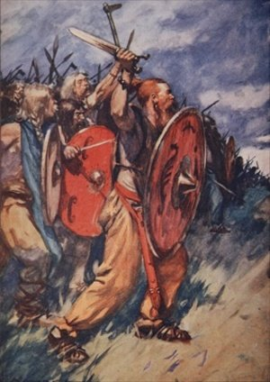 On and on they came hungering for battle illustration from A History of Germany