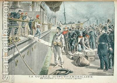 The First Prisoners at Key West during the Spanish American War from Le Petit Journal 8th May 1898 by Henri Meyer - Reproduction Oil Painting