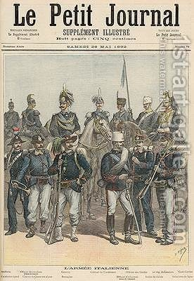 The Italian Army from Le Petit Journal 28th May 1892 by Henri Meyer - Reproduction Oil Painting