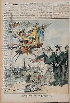 The Franco-Russian Entente illustration from Le Petit Journal 30th September 1893 by Henri Meyer - Reproduction Oil Painting