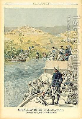 Events in Madagascar The Capture of Mevatanana illustration from Le Petit Journal 30th June 1895 by Henri Meyer - Reproduction Oil Painting