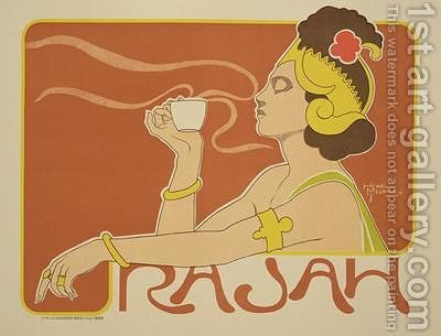 Reproduction of a poster advertising the Cafe Rajah 1897 by Henri Georges Jean Isidore Meunier - Reproduction Oil Painting