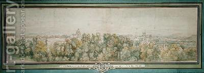 View of Paris from the Gobelins Workshop by Adam Frans van der Meulen - Reproduction Oil Painting