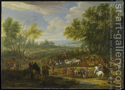 A Cavalcade by Adam Frans van der Meulen - Reproduction Oil Painting