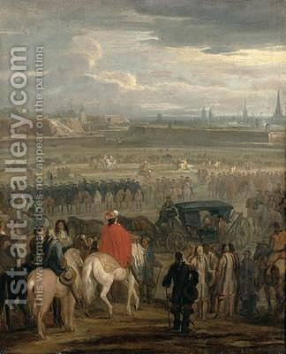 Surrender of the Citadel of Cambrai 18th April 167 by Adam Frans van der Meulen - Reproduction Oil Painting
