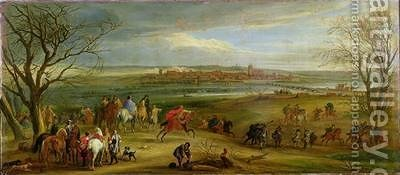 View of the Siege of Dole 14th February 1668 after 1668 by Adam Frans van der Meulen - Reproduction Oil Painting