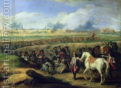 Louis XIV 1638-1715 at the Siege of Tournai 21st June 1667 by Adam Frans van der Meulen - Reproduction Oil Painting