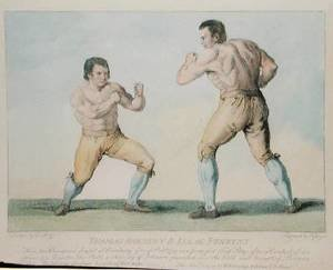 Rococo painting reproductions: Boxing Match Between Thomas Johnson and Isaac Perrins