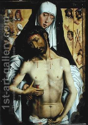 The Man of Sorrows in the Arms of the Virgin by (after) Memling, Hans - Reproduction Oil Painting