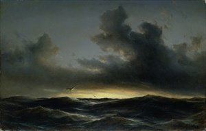 Neo-Classical painting reproductions: Marine Solitude 1852