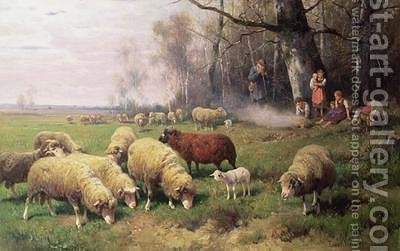 The Shepherds Family by Adolf Ernst Meissner - Reproduction Oil Painting