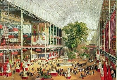 Interior View of Crystal Palace during the Great Exhibition of 1851 by (after) McNevin, J. - Reproduction Oil Painting